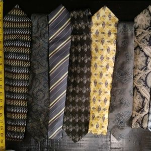 Lot of 11 Vintage Neck Ties Excellent E4